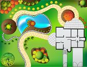 picture of garden sculpture  - Plan of garden - JPG