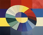 detailed color of laminated samples