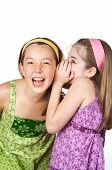 Young Girls Telling Secrets