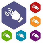 Cursor Hand Icon. Simple Illustration Of Cursor Hand Vector Icon For Web poster
