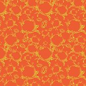Seamless Orange Background With Light Elements