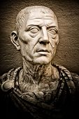 Vintage image of the roman emperor Julius Caesar