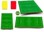 Soccer, European Football Field In Top View Different Angles Point Of Perspective View. Isolated Vec poster
