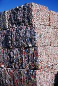 Compacted Aluminum Cans For Recycling
