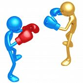 stock photo of pugilistic  - A Concept And Presentation Figure in 3D - JPG