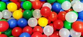 Color Balls. Bright Colors Background. Ball Color For Child. Hild Room. Colored Plastic Toy Balls Of poster