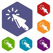 Cursor Click Icon. Simple Illustration Of Cursor Click Vector Icon For Web poster