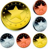 Coin Or Token Set With Star