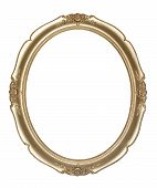 Oval photo frame (Clipping path!)