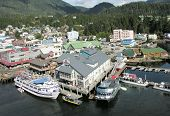 Ketchikan, Alaska September 15: Downtown Waterfront on September 15, 2009 in Ketchikan Alaska