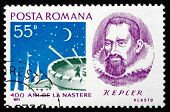 Postage stamp Romania 1971 Johannes Kepler, Astronomer