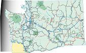 Mapa de carreteras del estado de Washington