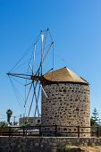 Old Windmill From The Greek Island Of Kos