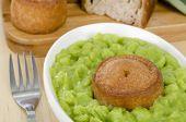 Melton Mowbray Pork Pie & Mushy Peas.
