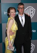 LOS ANGELES - JAN 15:  Mireille Enos & Alan Ruck arriving to Golden Globes 2012 After Party: WB / In Style  on January 15, 2012 in Beverly Hills, CA