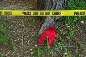 stock photo of babygro  - Crime scene - JPG