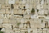 picture of tora  - cut out of the wailing western wall Jerusalem israel - JPG