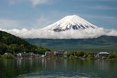 Mount Fuji from Kawaguchiko lake in Japan