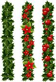 Green Christmas Garlands Of Holly