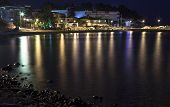 Night Village Sea