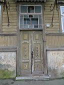abandoned door