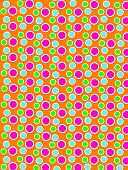 Colored Dots On White Dots Orange