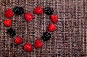 Berries Heart Frame