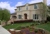 picture of nice house  - a photo of a nice house in a upscale neighborhood - JPG
