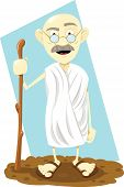 picture of guru  - a vector cartoon representing a funny indian guru - JPG