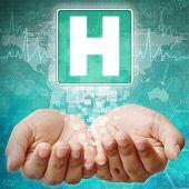 Hospital Symbol On Hand ,medical Background