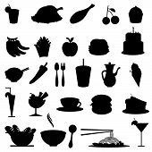 Silhouetten Food icons