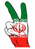pic of tabriz  - Peace Sign of the Iranian flag on a white background - JPG