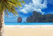 Tropical beach of Ko Phi Phi Don island