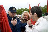 Police Aresting National Bolshevik Memeber Vladimir Linderman