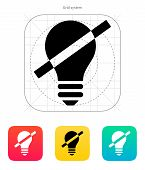 stock photo of waste reduction  - Disabled bulb icon on white background - JPG