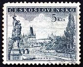 Postage Stamp Czechoslovakia 1953 Charles Bridge And Prague Castle