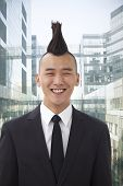 Well-dressed young man with Mohawk portrait