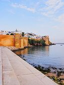 Walls Of Kasbah Of The Udayas In Rabat, Morocco