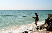Men Fishing In Sea Of Azov