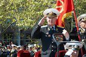 Parade Commander. Russian Veteran's Parade May 9, 2009