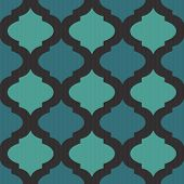 foto of arabic  - Seamless mosaic pattern in arab style for web or decor - JPG