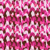 Abstract modern pink animal seamless fabric pattern