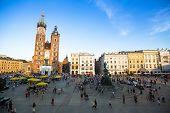 KRAKOW, POLAND - SEN 8: St. Mary's Church in historical center of Krakow, Sen 8, 2013 in Krakow, Pol