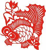 Постер, плакат: Китайского зодиака Рыбы