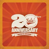 Anniversary sale poster