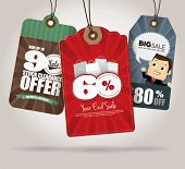 stock photo of year end sale  - Sale Tags Design - JPG