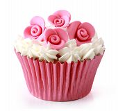 foto of sugarpaste  - Sweet cupcake delicious isolated over white background - JPG