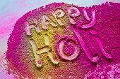 happy holi colors