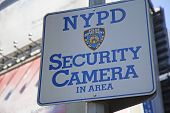 Nypd Security Camera Area Sign