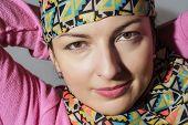Portrait Of A Young Caucasian Positive Woman